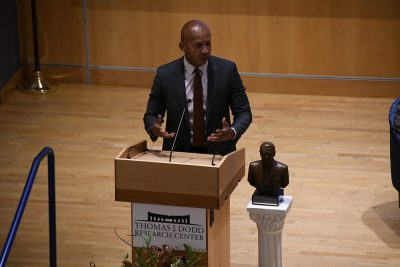 Bryan Stevenson, the founder of the Equal Justice Initiative, receives the Thomas J. Dodd Prize