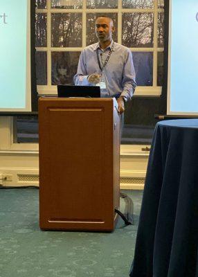 Doug Glanville speaking at Sport Management Career Night