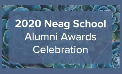 2020 Neag School Alumni Awards Celebration Logo.