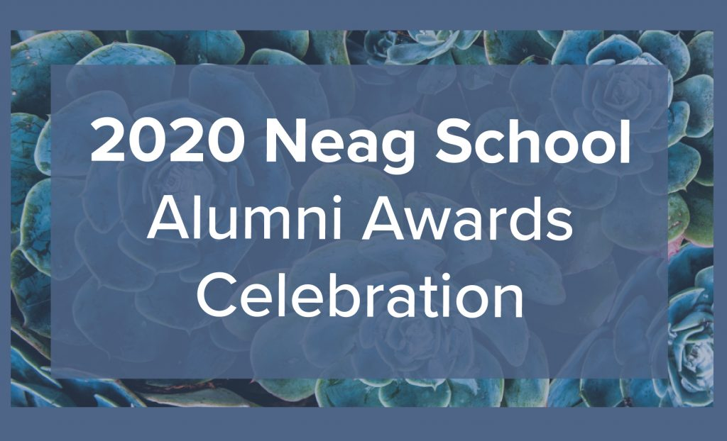 Logo for 2020 Neag School Alumni Awards Celebration