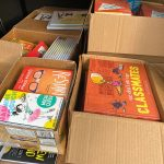 Books to be distributed through summer reading program.