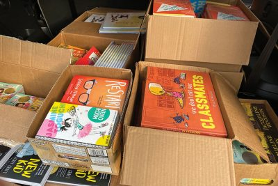 Books to be distributed during summer reading program.