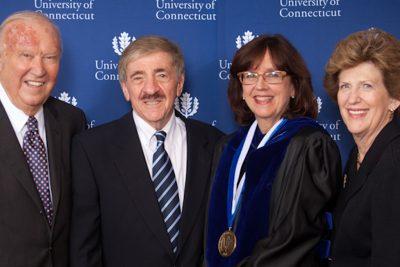 Ray Neag, Joe Renzulli, Sally Reis, and Carol Neag at Reis Investiture.