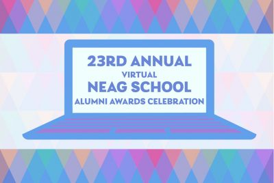23rd Annual Virtual Neag School Alumni Awards Celebration decorative graphic.