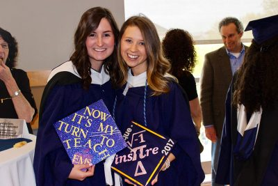 Alumni Victoria Schilling and Maria Enrique.