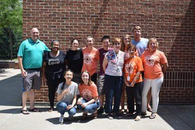 James Wildman with students.