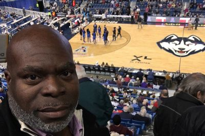 Sylvester Kent Butler at a UConn basketball game.