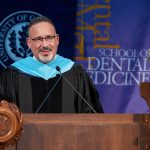 Miguel Cardona gives commencement speech.