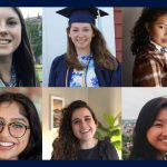 Fulbright Recipients. Top Row: Elizabeth Clifton, Karli Golembeski and Chloe Murphy. Bottom Row: Simran Sehgal, Jessica Stargardter and Candace Tang.